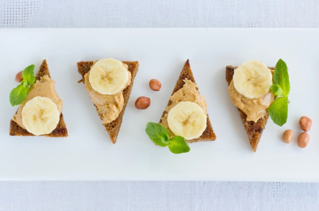 Snack sehat - Banana Nut Toast
