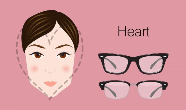 Kacamata yang sesuai untuk wajah berbentuk hati