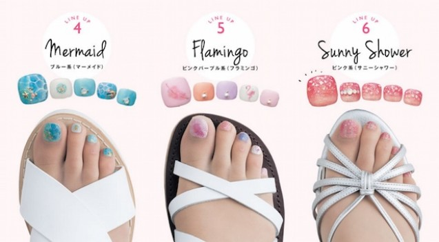Stocking nail art